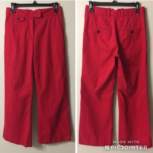 3.1 PHILLIP LIM Red Twill Pants Sz 0